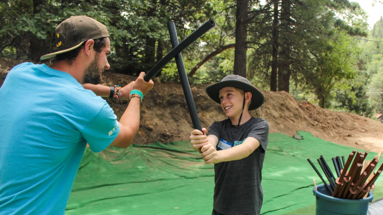 Camper learning Hollywood stunts