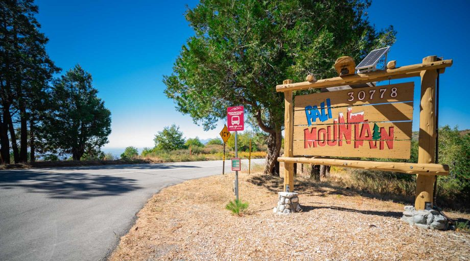 Pali Mountain entrance sign